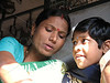 Mother & daughter on train to Tarakeshwar.