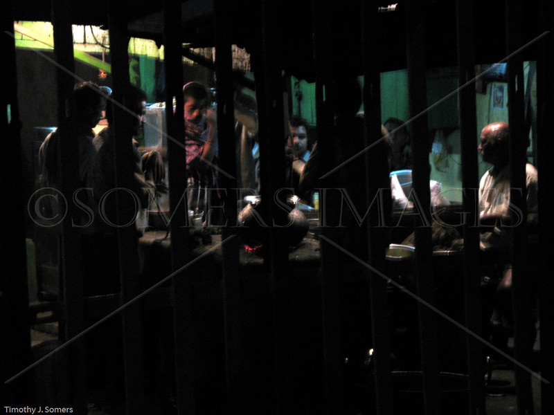 Workers having chai at Howrah Station, Kolkata