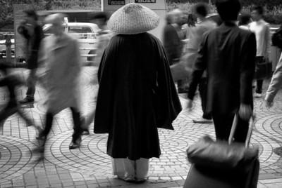 Monk at Shinjuku station.