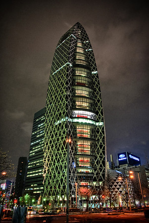 The new Subaru building in Shinjuku, Tokyo.