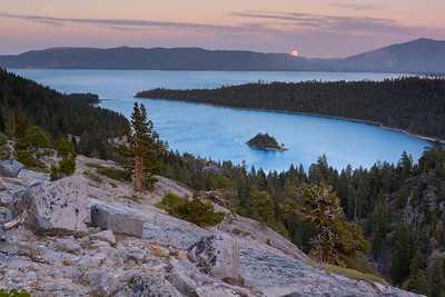 Emerald Bay Moonrise, Lake Tahoe