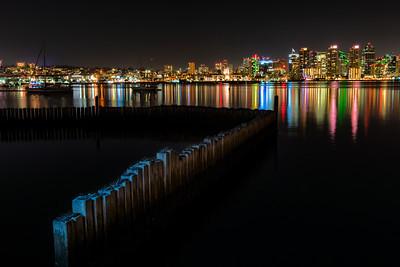 San Diego Bay at Night
