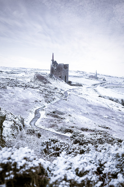 Botallack Crown Mines in the Snow