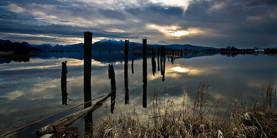 Beautiful Golden Ears, Pitt River, British Columbia (I-8252-E) Limited Edition Print - Maximum 100 copies to be sold.