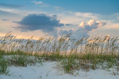 Beautiful Skies Over Sand Dunes