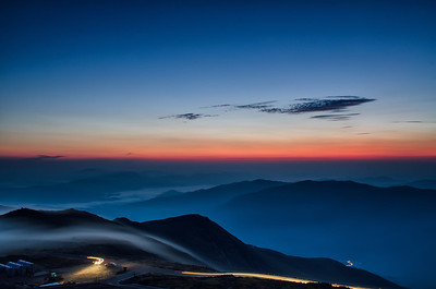 Sunrise from Mount Washington - New Hampshire