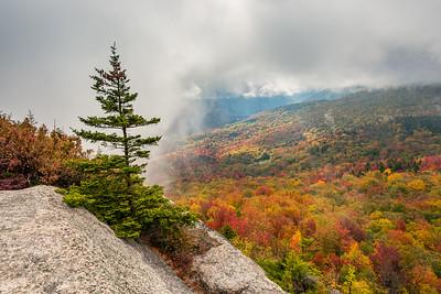 Cloudy White Mountains Autumn Morning