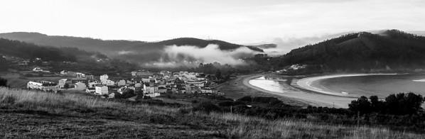 Panoramic of Espasante, Galicia, Spain