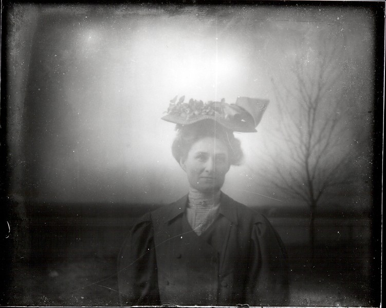 Woman with Hat Outdoors