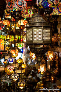 A menagerie of color. Lamps in the Grand Bazaar in Istanbul, Turkey.