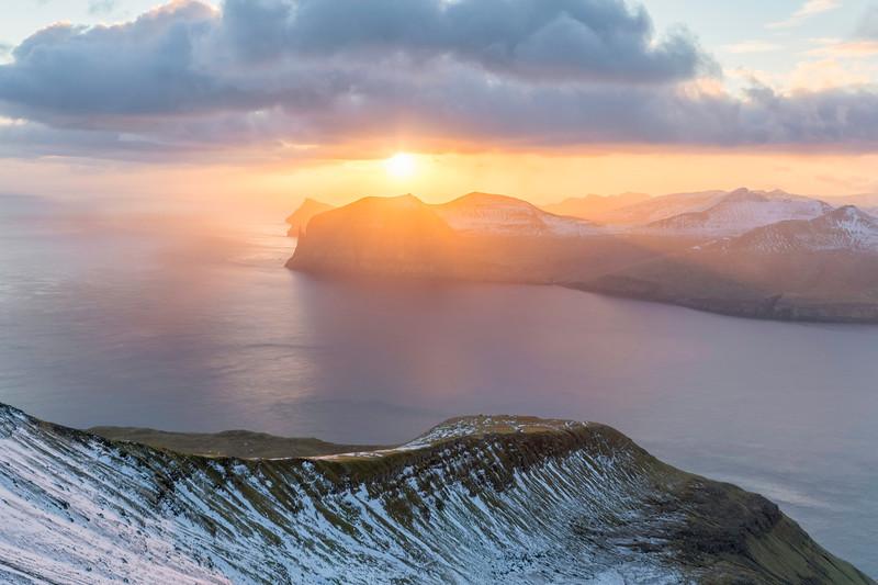 Sunset from mount Sornfelli.