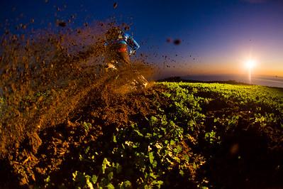 Richie Schley dirt farming near San Juan Capistrano