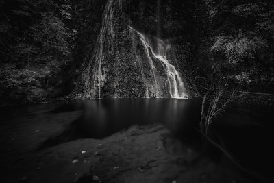 Yomogi Fudo Falls In Monochrome