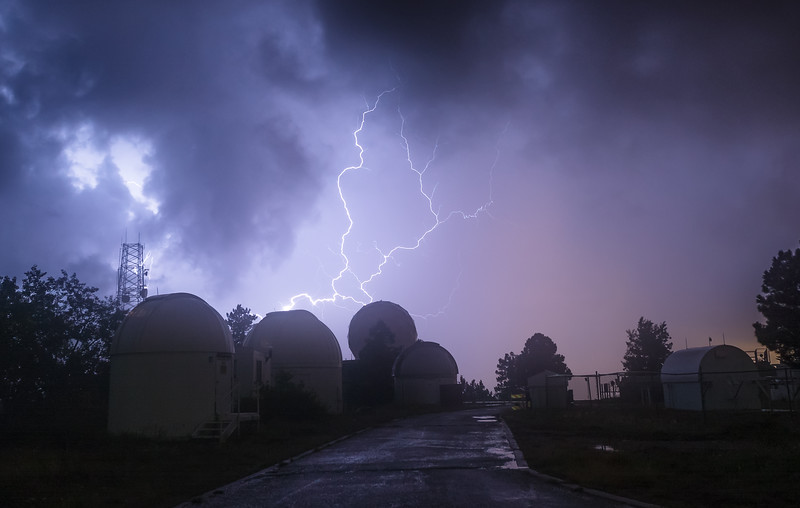 Lightning over Mt Lemmon SkyCenter