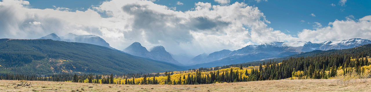 DF.4089 - Mountain storm in Autumn, Glacier National Park, MT.