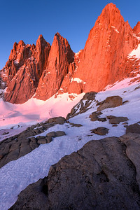 Mt Whitney Alpen Glow, Vertical