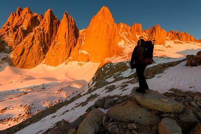 Mt Whitney Alpen Glow, Self Portrait