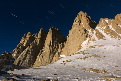 Mt Whitney under Full Moon