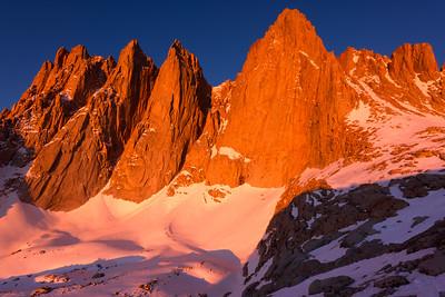 Mt Whitney Alpen Glow (Landscape)