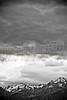 French Alps Snow Storm B&W