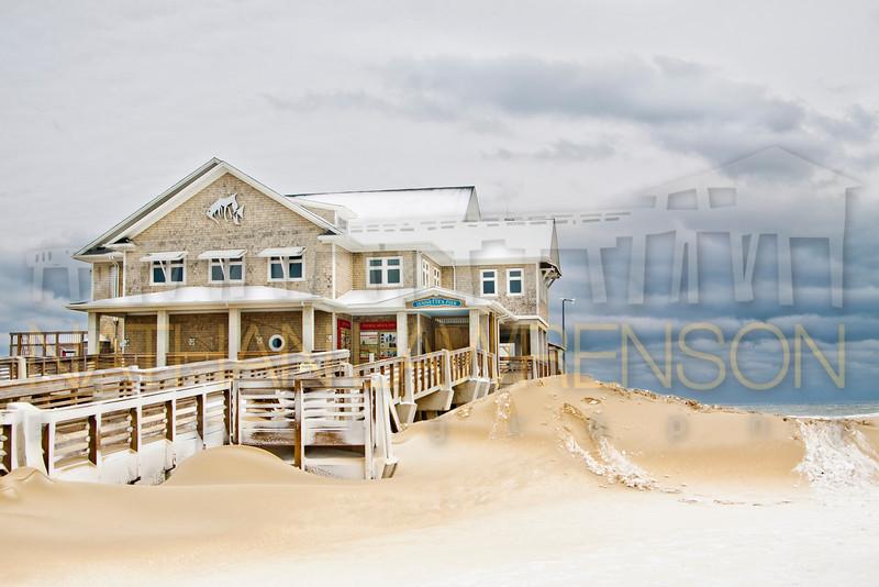 Jennette's Pier in the Snow