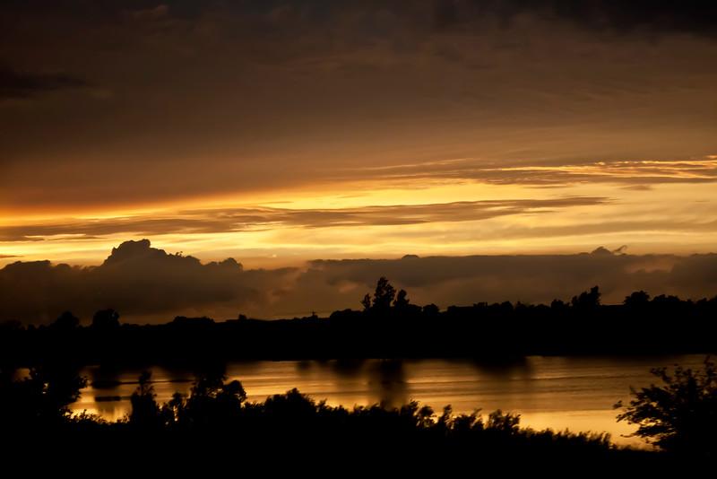 Sunset Over Indiana Lake