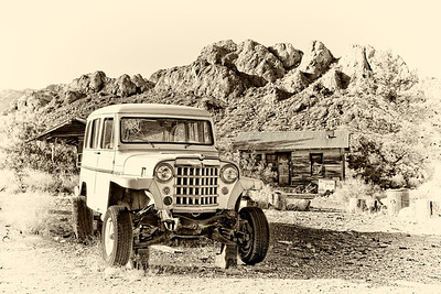 Old rusty truck in the ghost town of Nelson, Nevada