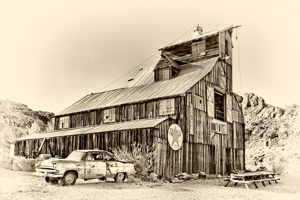 Old barn in the ghost town of Nelson, Nevada