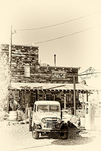 Old Truck in Abandoned Ghost Town