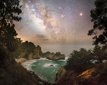 McWay Falls Milky Way