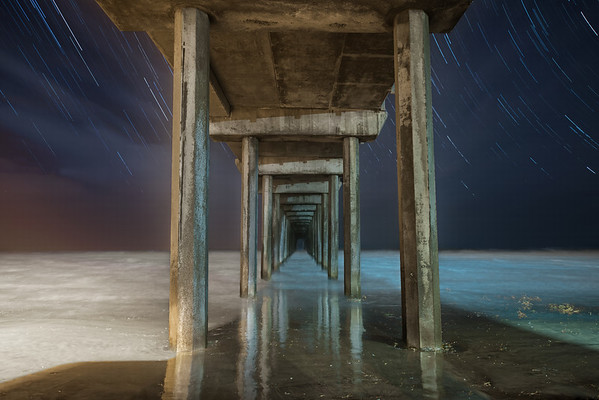 Scripps Pier Star Trails