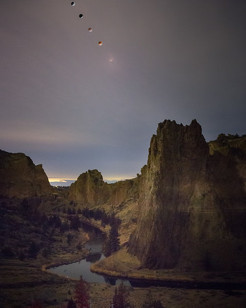 Lunar Eclipse over Smith Rock