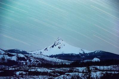 Star Trails over Mt Washington