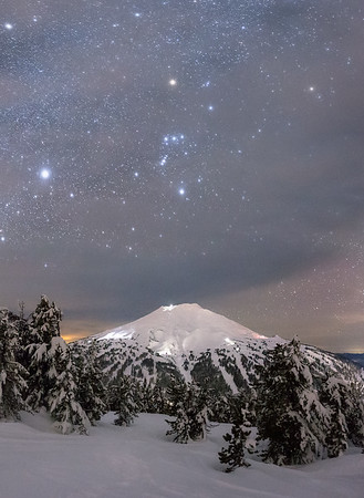 Orion Constellation over Mt Bachelor