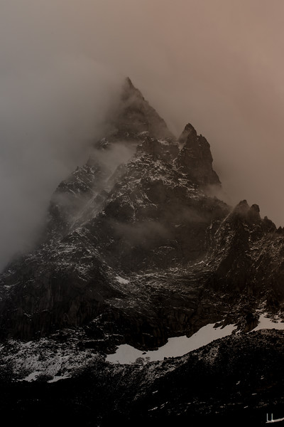 L'Aiguille Du Plan at Sunrise