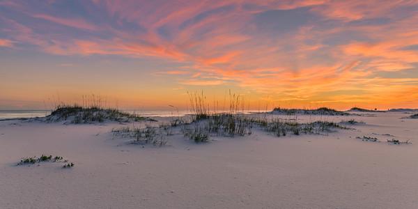 Wispy Sunset At Gulf Islands National Seashore