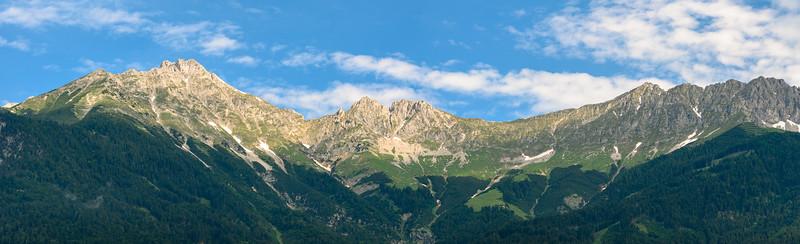 Austrian Mountain Range In Innsbruck