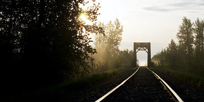 Rail Trestle in the Morning Light