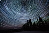 Star trails and northern lights just outside of Fairbanks, Alaska. March 21, 2012.