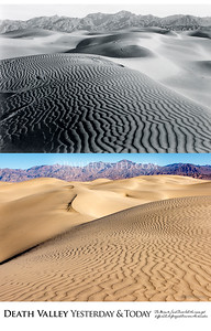 Death Valley National Park Yesterday & Today. Mesquite Flat  Sand Dunes, circa 1930.