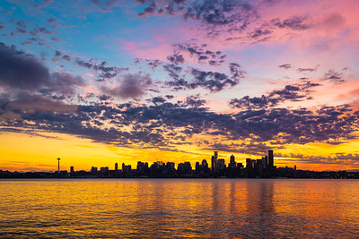 Dawn over the Seattle Skyline