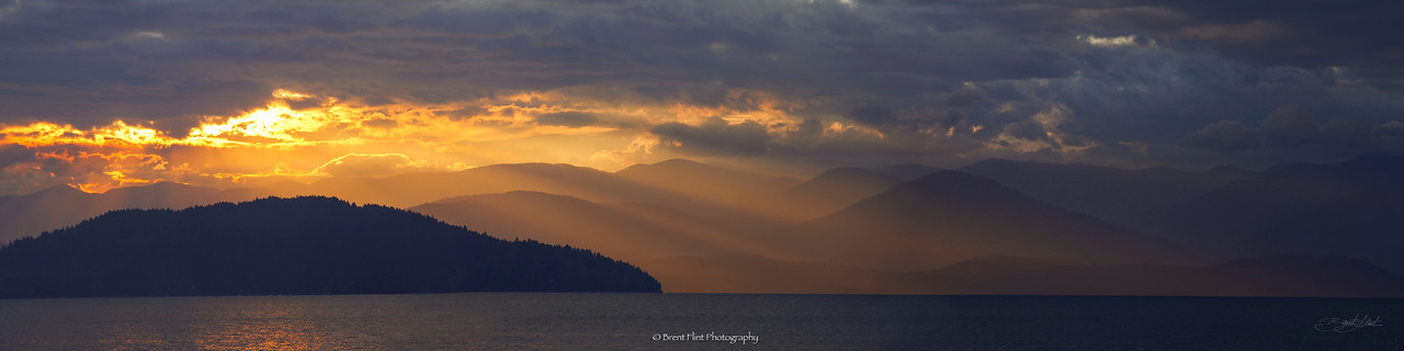 DF.3093 - sunrise over Lake Pend Oreille, Bonner County, ID.