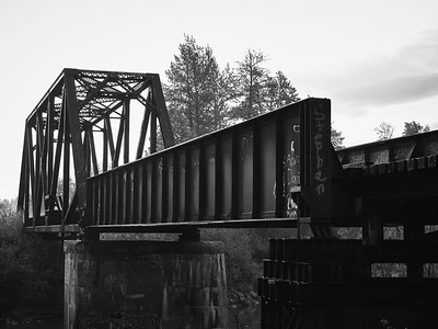 Rail Bridge in Monochrome, Cold Metal #3