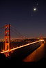 "Moonrise over the Golden Gate Bridge as seen from the Marin Headlands.<br /> <br />  <a href=""http://en.wikipedia.org/wiki/Golden_Gate_Bridge"">http://en.wikipedia.org/wiki/Golden_Gate_Bridge</a>"