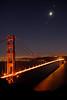 "Moonrise over the Golden Gate Bridge as seen from the Marin Headlands.<br /> <br />  <a href=""http://en.wikipedia.org/wiki/Golden_Gate_Bridge"">http://en.wikipedia.org/wiki/Golden_Gate_Bridge</a>"