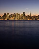 Moon setting over the San Francisco Skyline