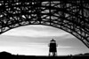 "A silhouette of the Fort Point Lighthouse under the Golden Gate Bridge.<br /> <br />  <a href=""http://en.wikipedia.org/wiki/Fort_Point"">http://en.wikipedia.org/wiki/Fort_Point</a>,_San_Francisco<br /> <br />  <a href=""http://en.wikipedia.org/wiki/Golden_Gate_Bridge"">http://en.wikipedia.org/wiki/Golden_Gate_Bridge</a>"