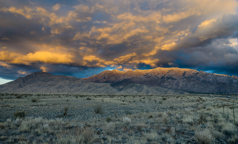 Sandia Sunset Clouds