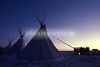 Tipis at sunset during Wounded Knee Memorial Ride.