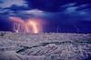 Thunderstorm over Badlands National Park.